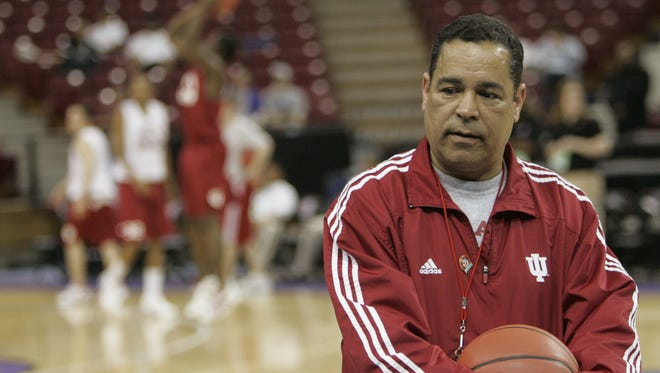 Flashback: Kelvin Sampson is seen during an IU practice in 2007 before an NCAA tournament game against Gonzaga.
