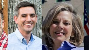 Democrats, from the left, John Ager, Brian Turner, Ellen Frost and Kay Hagan ran well in Buncombe County, although Hagan lost her race statewide.