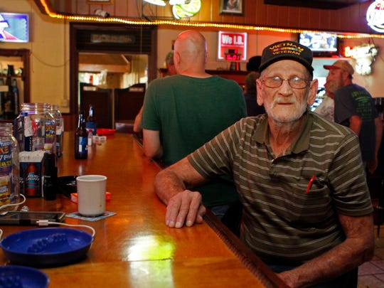 Jerry Perkins has been a regular at Mary's since 1970.