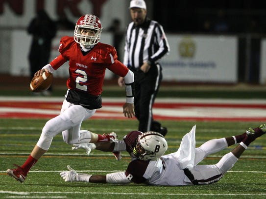 Ocean quarterback Kenny Pickett was struck by the collection