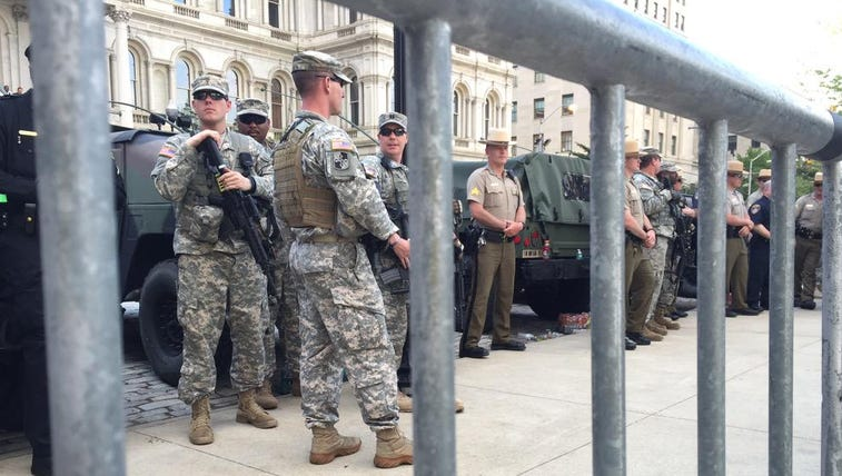 Hogan order National Guard out of Baltimore