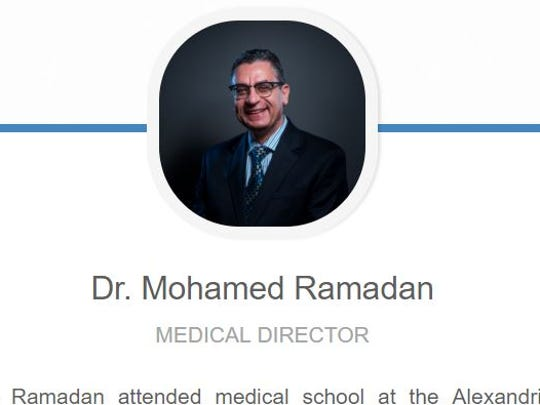 Dr. Mohamed Ramadan is seen in a screenshot of the