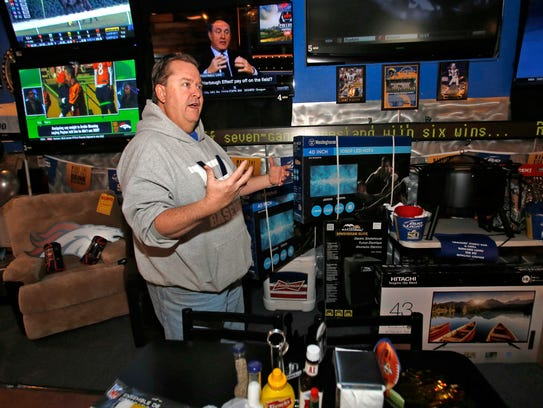 Owner Chad Franks talks about Sunday's Super Bowl party