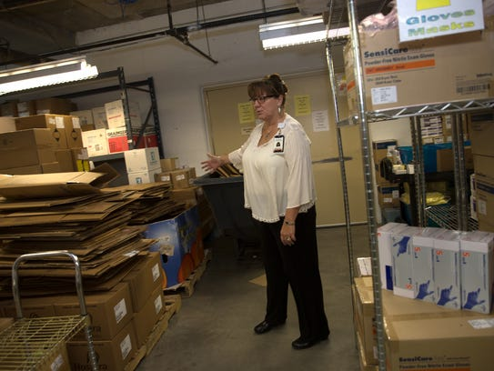 Clinical Resource Manager Suzanne Gil talks about recycling