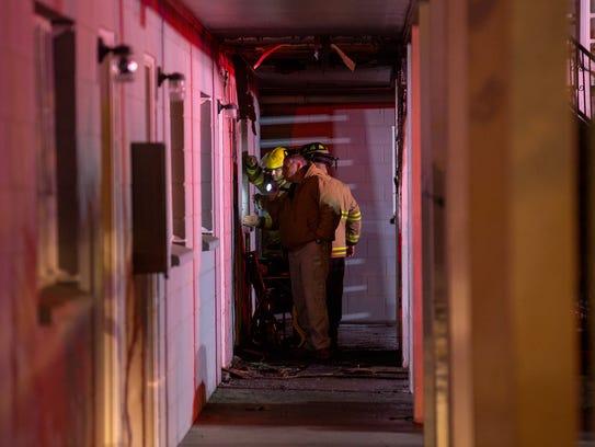 A blaze at the Villa View Apartments in Farmington