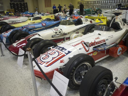 Historic Indy Car winners, at the Hall of Fame Museum, for an annual party the Hulman-George family throws to kick off celebrations in Speedway, Friday, May 10, 2013. Robert Scheer/The Star