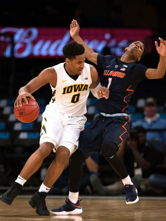 NCAA Basketball: Big Ten Conference Tournament-Iowa vs Illinois