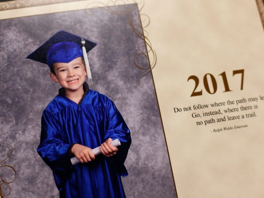 A photo of William Kinney, 5, in his Wonder Years promotion