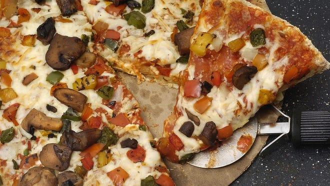 DiGiorno Harvest Wheat roasted vegetable rising crust pizza.  (argus leader/ stuart villanueva)