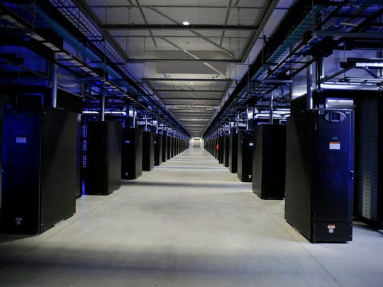 Interior view of Facebook data center in Forest City.