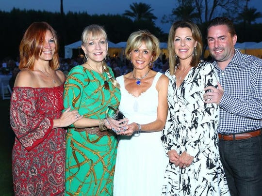 From left to right: Tanya Martin, DeAnn Lubell-Ames, Diane Neiderman, Heidi Ames, Christian Ames.