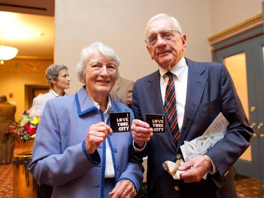 """Downtown Inc posted this photo of Louis J. Appell Jr. and his wife, Jody, on Facebook on Tuesday. """"Thank you to our City's biggest supporter, Louis J. Appell, the recipient of our 2010 Lifetime Achievement Downtown First Award,"""" the post stated."""