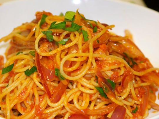 Spaghetti at Zappone's Italian Bistro in Gilbert.