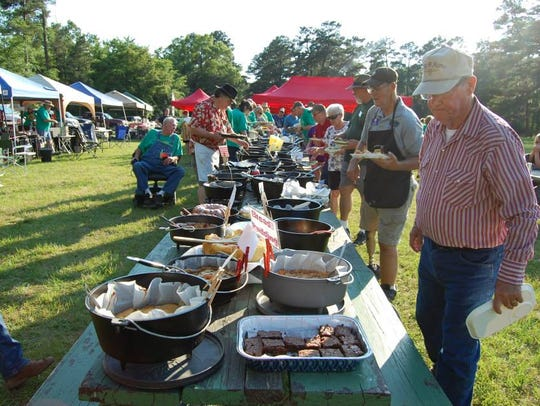 The Louisiana Dutch Oven Society meets to share recipes