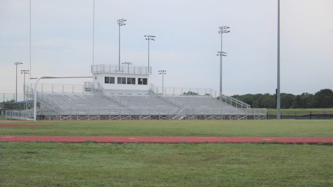 The football practice field at Durant High School continues to sit empty as the Durant school district opts to take a conservative approach in resuming athletic activities. Limited individual workouts with restrictions were slated to begin at the school this week.
