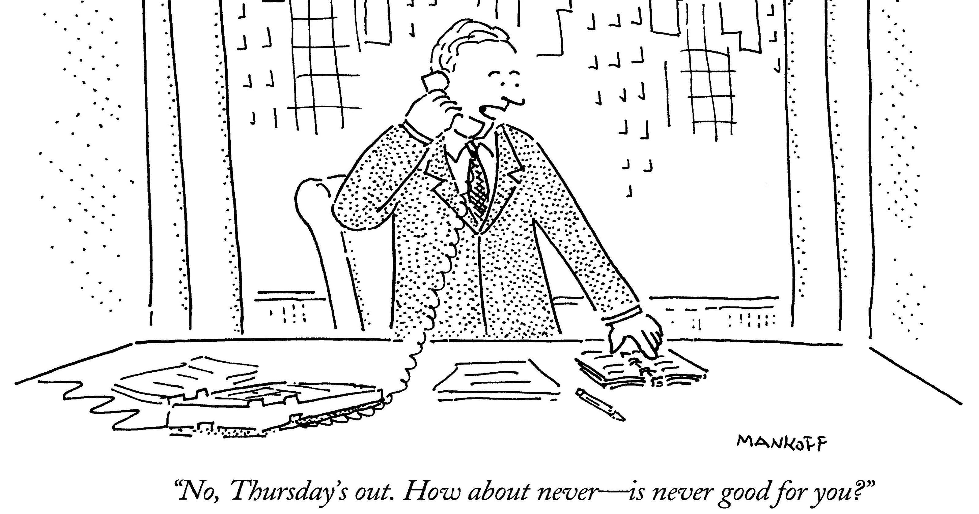 'Never' has been good to cartoon editor Bob Mankoff
