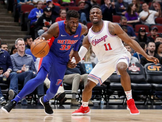 Apr 11, 2018; Chicago, IL, USA; Detroit Pistons forward