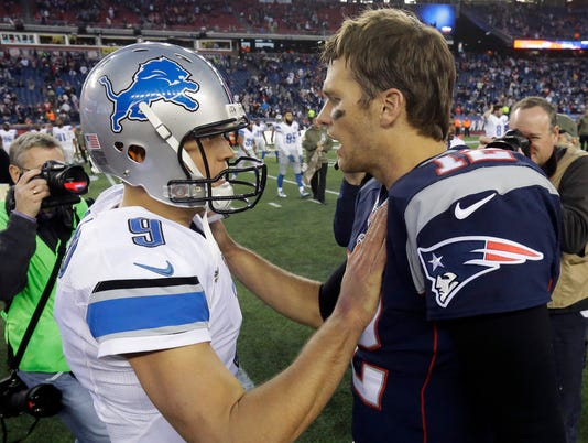 brady stafford, tom brady matthew stafford, lions patriots