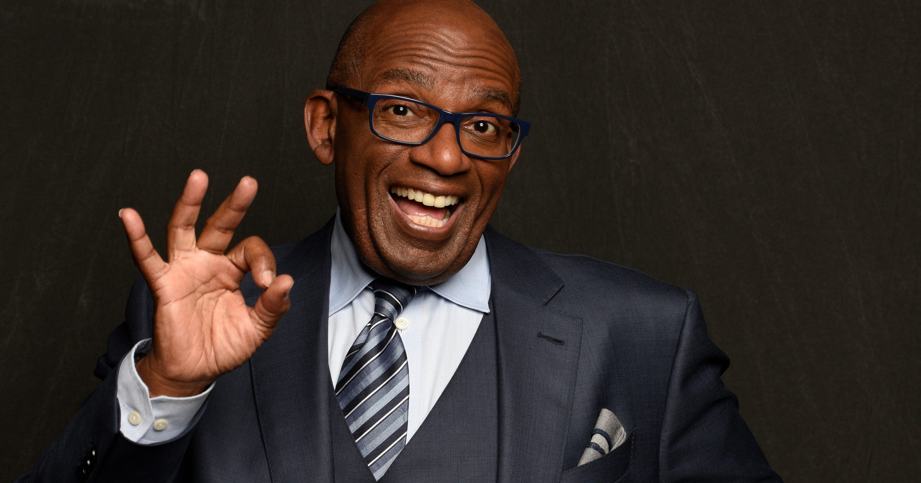 d5466988c097a Al Roker is rocking a snazzy new pair of blue glasses and fans love them