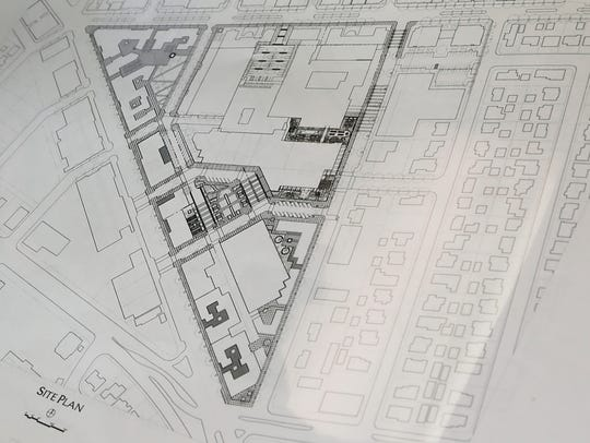 This drawing shows the site plan for the new Community