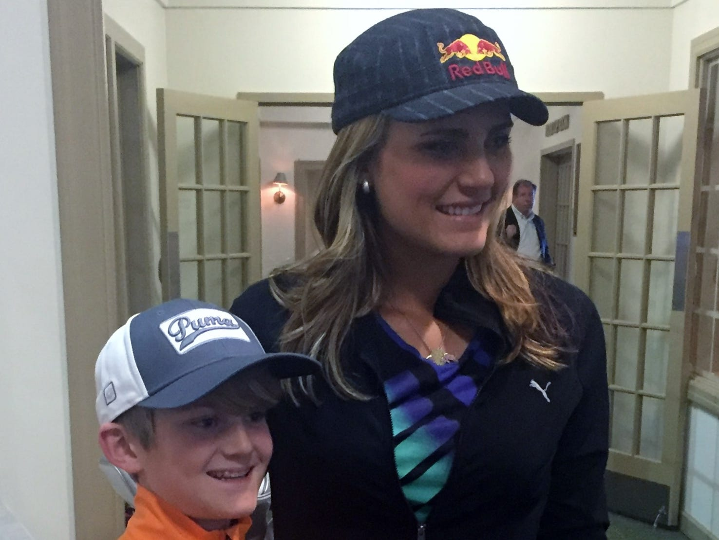 Sam O'Hara got to meet Lexi Thompson and Jordan Spieth last month during a promotional event for Drive, Chip & Putt.