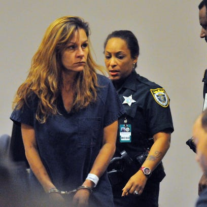 Mary Derossett appears in a Viera courtroom on Thursday,