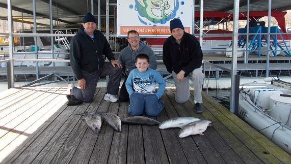 The group Reynolds recently took out was originally booked for  December when all the rains came. They rescheduled the trip for March, a much better time to fish.