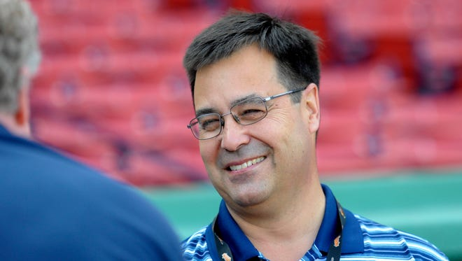 Orioles executive vice president of baseball operations Dan Duquette prior to a game at Fenway Park.