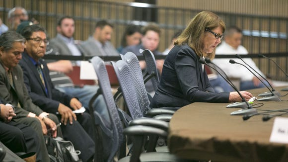U.S. Rep. Ann Kirkpatrick, D-Ariz., testifies during