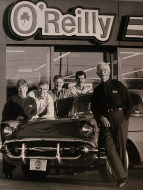 """The O'Reilly family, from right, Charles """"Chub"""" O'Reilly, David O'Reilly Larry O'Reilly, Charlie O'Reilly, and Rosalie O'Reilly Wooten."""
