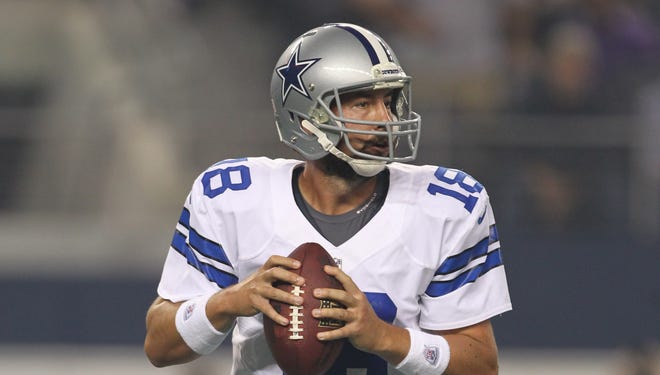 Dallas Cowboys quarterback Kyle Orton has thrown 15 passes since the 2011 regular-season finale with the Kansas City Chiefs.