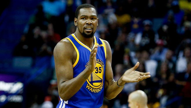 Golden Sate Warriors forward Kevin Durant is averaging 25.9 points and 8.2 rebounds per game.
