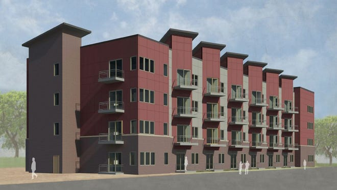 Connolly Lofts, a proposed apartment complex, would be located along East Martin Luther King Jr. Parkway, in an area known as the Market District.