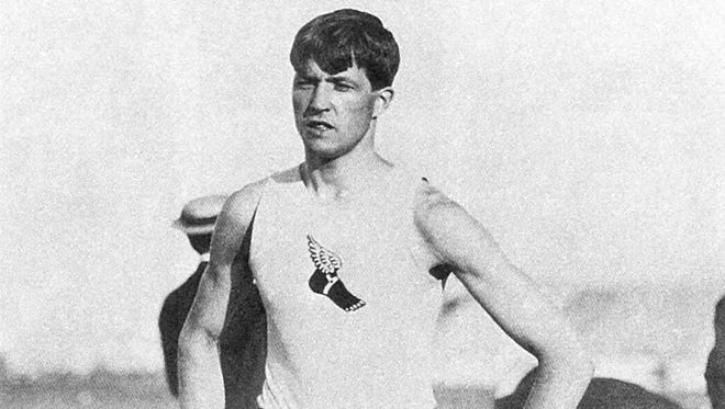 Ray Ewry was told as a 7-year-old growing up in Lafayette that infantile paralysis would keep him from walking. He went on to win 10 Olympic gold medals after starring on the track at Lafayette High School and Purdue University.