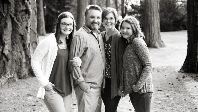 From left, Elizabeth Hoke, Anthony and Kristan Hoke and Abbie Hoke.