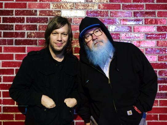 R. Stevie Moore (right) and Jason Faulkner teamed up