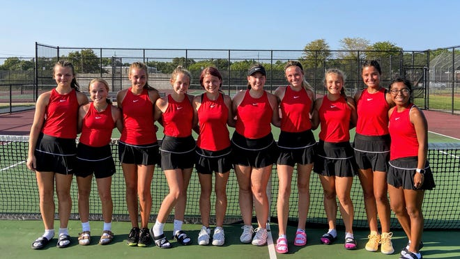 The McPherson High School girls tennis team went 4-0 in duals at Salina South on Saturday.