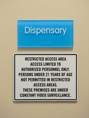 Signage on the outside of a restricted area in LeafLine