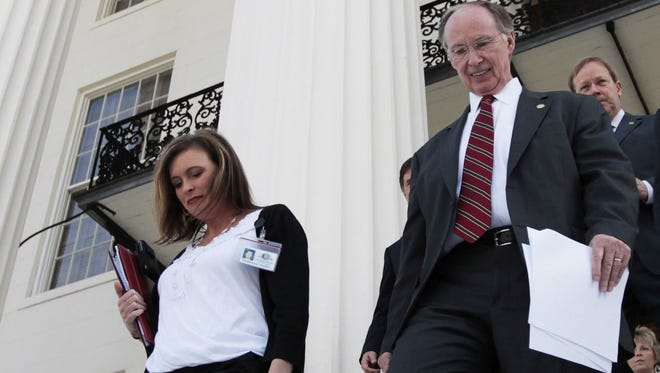Gov. Robert Bentley and former political advisor Rebekah Caldwell Mason.