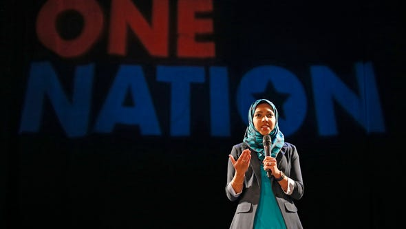Nazia Ali speaks during The Enquirer's One Nation event