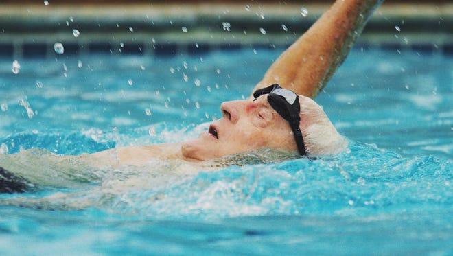 "Speedo ""Fueled By Water"" ad campaign features  Jurgen Schmidt, 91."