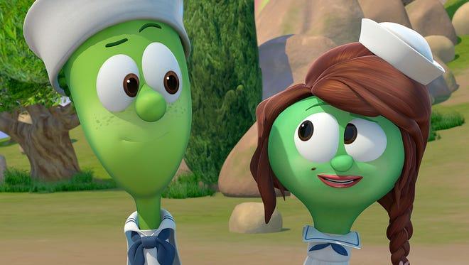 Noah's son Shem (voiced by Wayne Brady) and his wife Sadie (Jaci Velasquez).