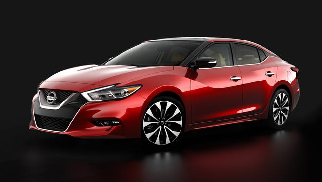 Teaser photo of redesigned Nissan Maxima to be unveiled in April at the New York Auto Show.