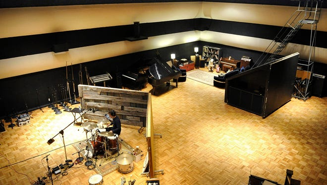 Artist Ben Folds records music for his new album in the historic RCA Studio A in Nashville.