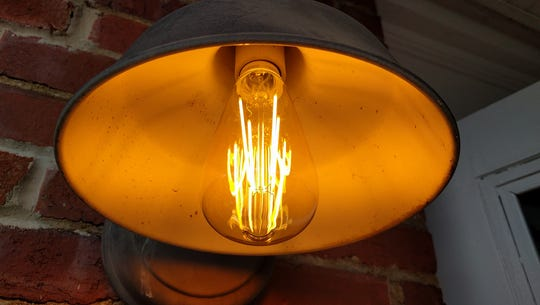 An LED replica of the original 1879 light bulb invented