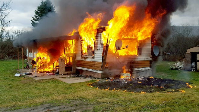 A home on State route 53 in Wheeler is a complete loss after a fire tore through the home.