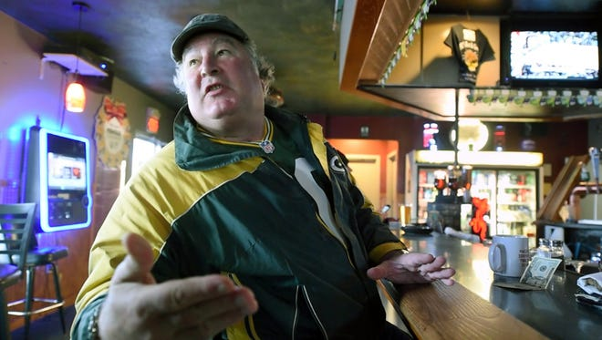 Craig Nugent has breakfast at Pizza Romana in Manchester Township.