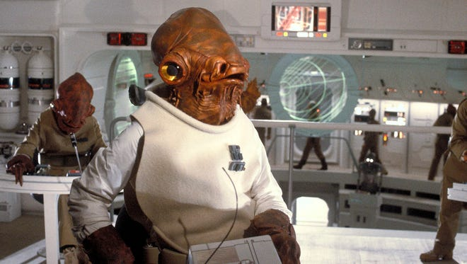 """Admiral Ackbar led Rebel forces in an attack on the Death Star in the movie """"Return of the Jedi."""""""