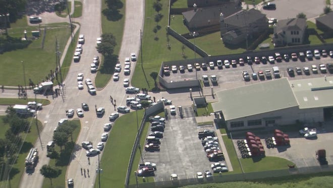 The Harris County (Texas) Sheriff's Office responded to reports of a shooting at Knight Transportation in Katy, Texas, on Wednesday, May 4, 2016.