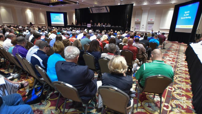 Principals and Athletic Directors from across the state gather in Baton Rouge for the LHSAA meeting. June 8, 2016.
